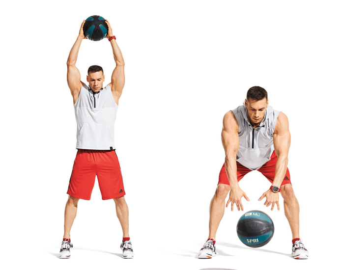 Medicine ball slams