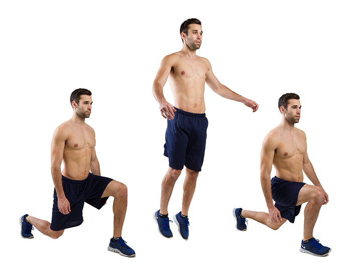 Alternating lunge jumps | FITPASS