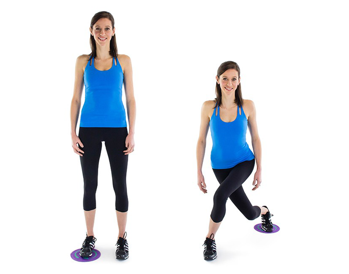 Curtsy Lunges-FITPASS