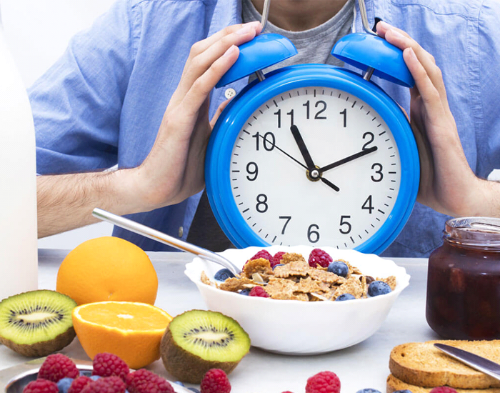 Maintain your time as try to eat at fixed hours