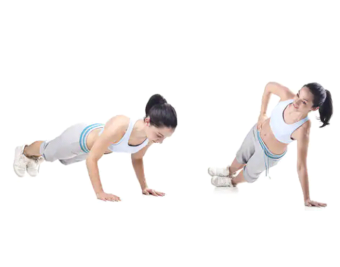 Side to Side Push Up