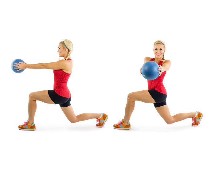 Reverse Lunge to Medicine Ball Twist