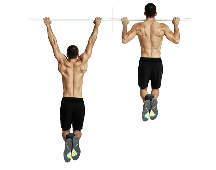 Pull ups - a popular workout for strong back