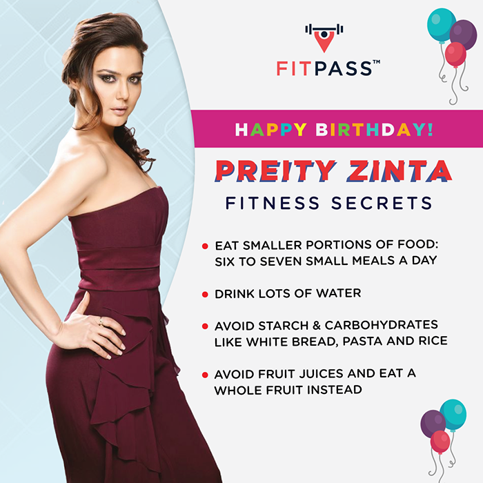 preity zinta fitness secret