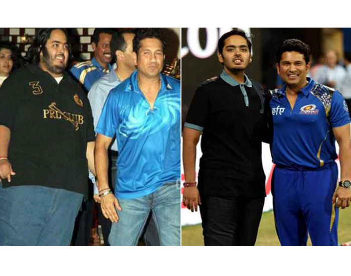 Fit Anant Ambani after Transformation With Sachin Tendulkar At IPL