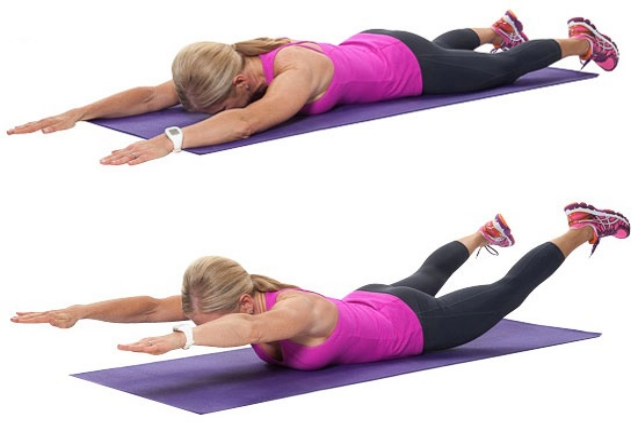 Press-up Back Extensions