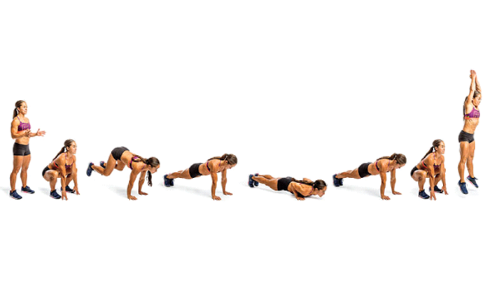 Burpees for ABS and burn fat