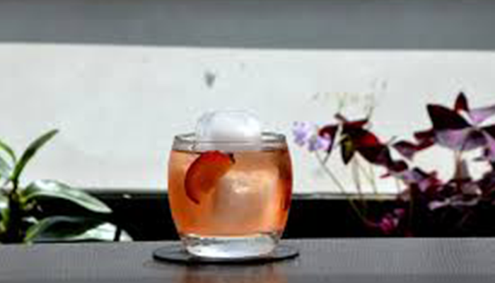 Plum cocktail