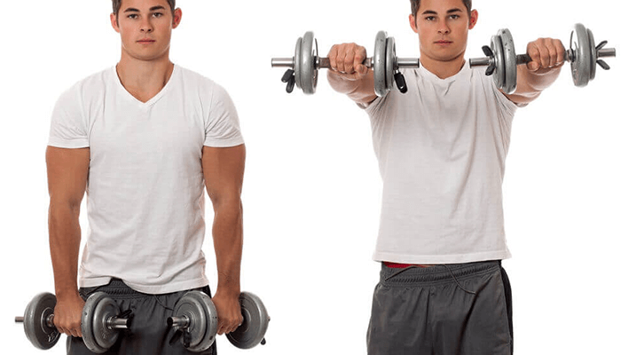 Front and Lateral Dumbbell Raise